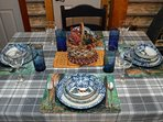 Lovely dishware helps you set a beautiful table. Bon Appetit !
