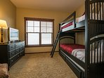 2 Kid's Bedrooms.  Each with a set of twin bunks.  Flat screen TV's.