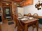 Comfortable Dining Table seats 6.