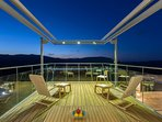 Top terrace with magnificent views