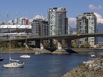 Cambie Bridge to downtown Vancouver