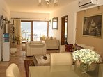 Manzarali Open Plan Lounge with  opening on to front large balcony with breathtaking views