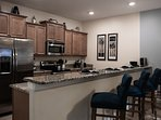 What a great layout for home-cooked meals shared in convenience and comfort...for a homelike stay.