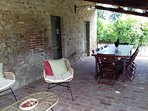 Loggia at the pool