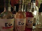 Gin tasting at Edinburgh Gin Distillery.