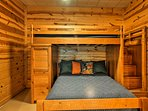Kids will love this room with a twin-over-full bunk bed.