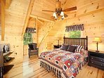 Bedroom with King Size Bed at Moonbeams & Cabin Dreams