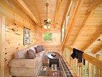 Sofa Bed in Loft at Moonbeams & Cabin Dreams
