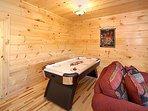 Game Room with Air Hockey Table at Moonbeams & Cabin Dreams