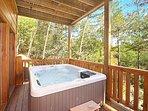Covered Hot Tub at Moonbeams & Cabin Dreams