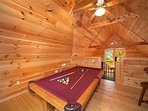 Lofted Game Room at Hidden Ecstasy