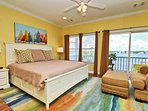 2nd Floor Master Bedroom with a King Bed