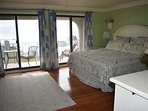 King Master Bedroom on 3rd floor with private oceanfront deck and endless views.