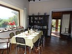 Dining area leading to Loggia