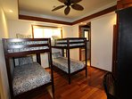 Guest bedroom with ensuite & 2 sets of Bunk beds