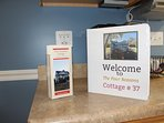 The welcome binder is full of information for your stay.