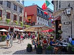 Old Montreal, it's rich heritage, high-end restaurants and art boutiques is merely a 15 min drive