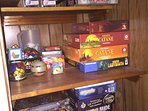Nice selection of board games for when the weather brings you back inside