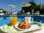 Have a breakfast in the pool!