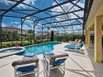 Why not enjoy this sun-filled pool deck or say under the shaded lanai - as you choose.