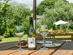 Enjoy outside dining in our beautiful gardens