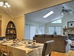 Gather around the formal dining table to enjoy delicious home-cooked meals.