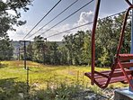 Enjoy the scenery on this chair lift.