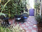 Patio leads out to our walkable neighborhood.