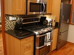 Kitchen - Stove with Dual Ovens & Built in Microwave