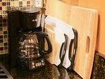 Drip Coffee Maker and Cutting Boards