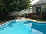 Inground heated salted pool with diving board - Available from mid-May to mid-Sept