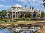 Take a break and head on up the mountain to Jefferson's Monticello.