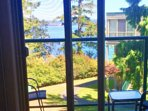 Wonderful water views from our private deck.