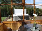 Relaxing view of Hot Tub