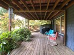 sun room opens to your private deck
