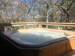 hot tub with view in winter