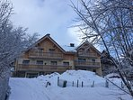 Chalet des Cousins on right with Chalet Galbert on left