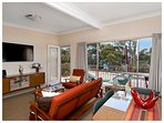 Upstairs lounge & dining with beautiful views of Jervis Bay