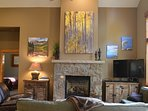 Enjoy the ambience and warmth in front of the gas fireplace!
