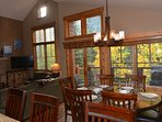 Enjoy the views from the dining and kitchen areas!