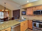Well equipped kitchen with high end appliances and extras.