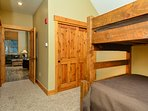 2nd bedroom with queen lower and double upper.  TV and DVD in room!