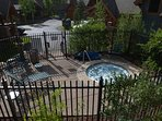 Onsite hot tubs throughout the property