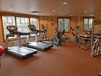 Onsite fitness center.  Gym also available at Peak 8  base with free shuttle bus service!