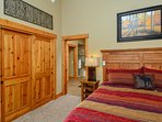Master bedroom with ensuite bath and large closet