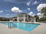 Our spectacular pool adjacent to clubhouse and fitness center.