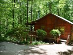 CHEERY DOG CABIN -2BR/1BA Cabin, Wifi, Wood Burning Fireplace, Outdoor Fire Pit
