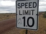 Posted speed limit keeps dust down and neighbors happy