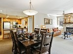 Open floor plan with upgraded furnishings