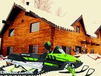 Lux Log Cabin- Winter or Summer play!  Snowmobile- Sled & Hot Tub the Vacay!